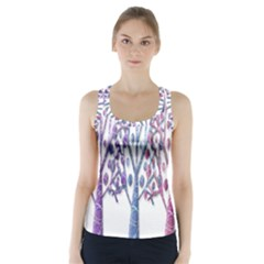 Magical Pastel Trees Racer Back Sports Top by Valentinaart