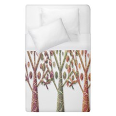 Magical Autumn Trees Duvet Cover (single Size) by Valentinaart