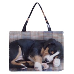 Greater Swiss Mountain Dog Puppy Medium Zipper Tote Bag by TailWags
