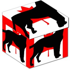 Labrador Retriever Silo Canadian Flag Storage Stool 12   by TailWags