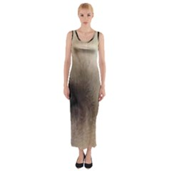 Yellow Labrador Eyes Fitted Maxi Dress by TailWags