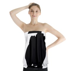 Pomerainian Silo Black Strapless Top by TailWags