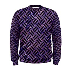 Woven2 Black Marble & Purple Marble (r) Men s Sweatshirt by trendistuff
