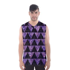 Triangle2 Black Marble & Purple Marble Men s Basketball Tank Top by trendistuff