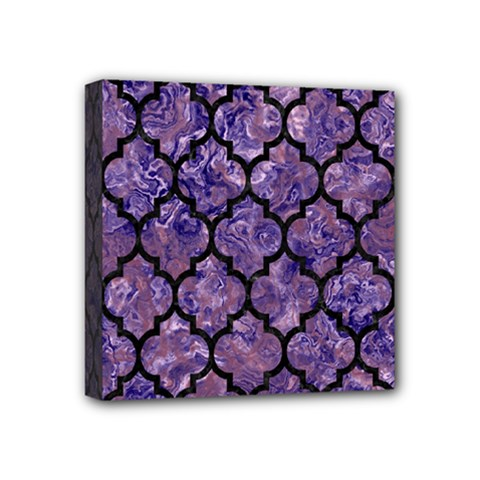 Tile1 Black Marble & Purple Marble (r) Mini Canvas 4  X 4  (stretched) by trendistuff
