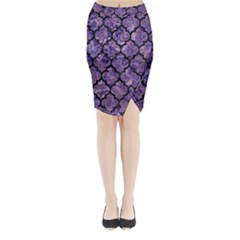 Tile1 Black Marble & Purple Marble (r) Midi Wrap Pencil Skirt by trendistuff