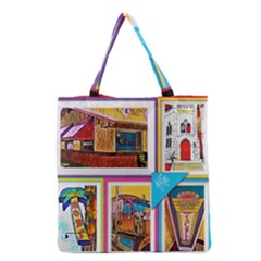 Picreations Vi Grocery Tote Bag by PiCreations