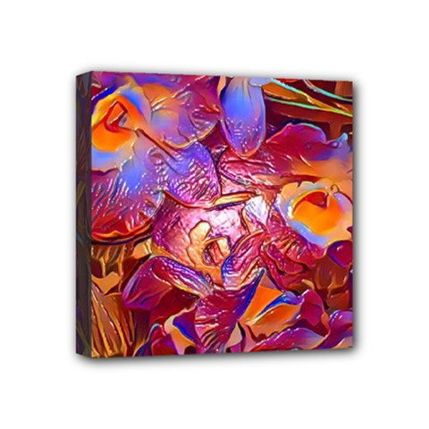 Floral Artstudio 1216 Plastic Flowers Mini Canvas 4  X 4