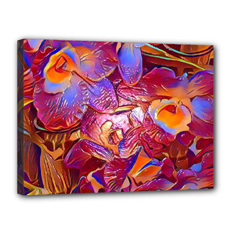 Floral Artstudio 1216 Plastic Flowers Canvas 16  X 12