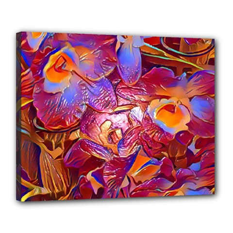 Floral Artstudio 1216 Plastic Flowers Canvas 20  X 16