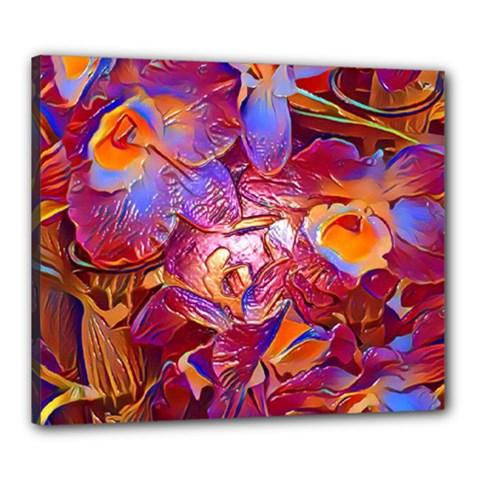 Floral Artstudio 1216 Plastic Flowers Canvas 24  X 20