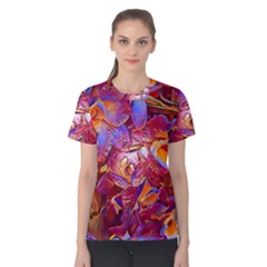 Floral Artstudio 1216 Plastic Flowers Women s Cotton Tee