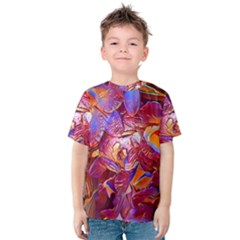 Floral Artstudio 1216 Plastic Flowers Kids  Cotton Tee