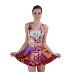 Floral Artstudio 1216 Plastic Flowers Mini Skirt