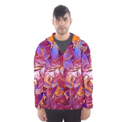 Floral Artstudio 1216 Plastic Flowers Hooded Wind Breaker (men)