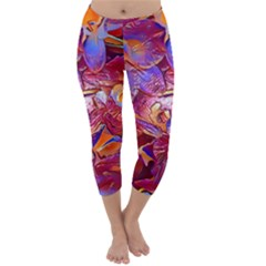 Floral Artstudio 1216 Plastic Flowers Capri Winter Leggings