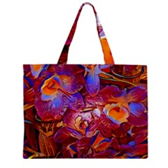Floral Artstudio 1216 Plastic Flowers Zipper Mini Tote Bag