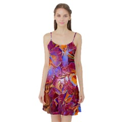 Floral Artstudio 1216 Plastic Flowers Satin Night Slip