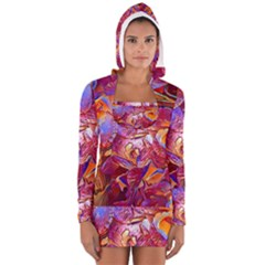 Floral Artstudio 1216 Plastic Flowers Women s Long Sleeve Hooded T Shirt