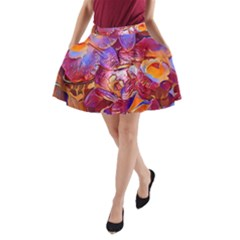 Floral Artstudio 1216 Plastic Flowers A Line Pocket Skirt