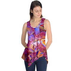 Floral Artstudio 1216 Plastic Flowers Sleeveless Tunic