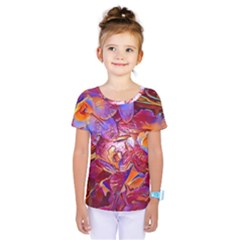 Floral Artstudio 1216 Plastic Flowers Kids  One Piece Tee