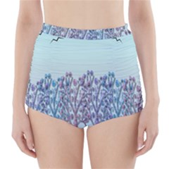 Blue Magical Hill High Waisted Bikini Bottoms by Valentinaart