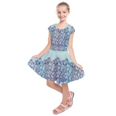 Blue Magical Hill Kids  Short Sleeve Dress by Valentinaart