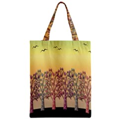 Magical Sunset Zipper Classic Tote Bag by Valentinaart