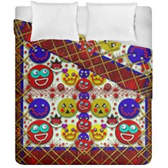 Smile And The Whole World Smiles  On Duvet Cover Double Side (california King Size) by pepitasart
