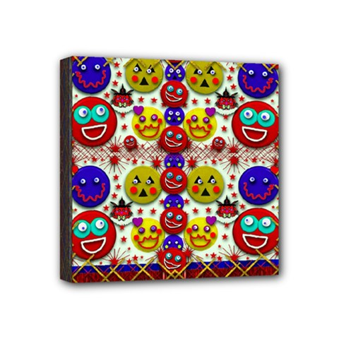 Smile And The Whole World Smiles  On Mini Canvas 4  X 4  by pepitasart