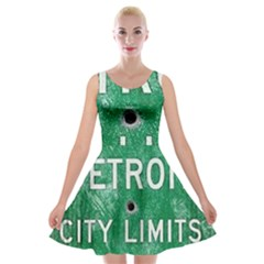 Detroit City Limits Velvet Skater Dress by DetroitCityLimits