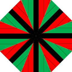 Kwanzaa Colors African American Red Black Green  Folding Umbrellas by yoursparklingshop