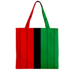 Kwanzaa Colors African American Red Black Green  Zipper Grocery Tote Bag by yoursparklingshop