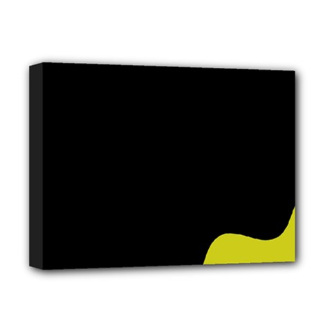 Black and yellow Deluxe Canvas 16  x 12   by Valentinaart