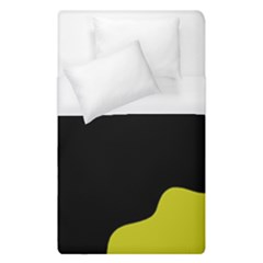 Black And Yellow Duvet Cover (single Size) by Valentinaart