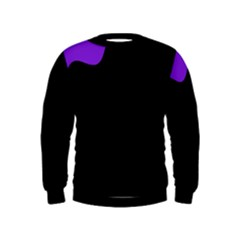 Purple And Black Kids  Sweatshirt