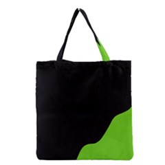 Black And Green Grocery Tote Bag by Valentinaart