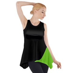 Black And Green Side Drop Tank Tunic by Valentinaart