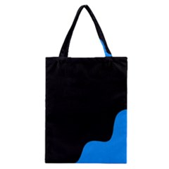 Blue And Black Classic Tote Bag by Valentinaart
