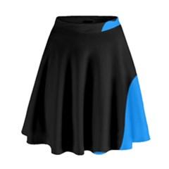 Blue and black High Waist Skirt by Valentinaart