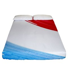 Tricolor Banner Flag, Red White Blue Fitted Sheet (king Size)