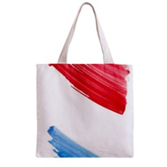 Tricolor Banner Flag, Red White Blue Zipper Grocery Tote Bag by picsaspassion