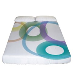 Rainbow Colors Circles Fitted Sheet (california King Size) by picsaspassion