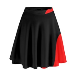 Black And Red High Waist Skirt by Valentinaart
