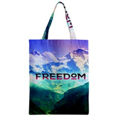 Freedom Zipper Classic Tote Bag by Brittlevirginclothing
