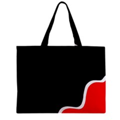 Simple Red And Black Desgin Zipper Mini Tote Bag by Valentinaart