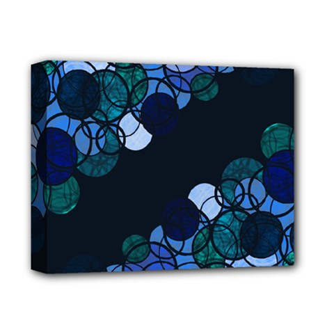 Blue Bubbles Deluxe Canvas 14  X 11  by Valentinaart