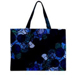 Blue Bubbles Zipper Mini Tote Bag by Valentinaart