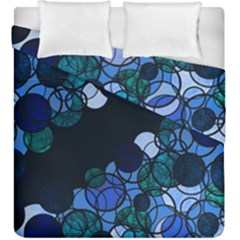 Blue Bubbles Duvet Cover Double Side (king Size) by Valentinaart